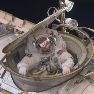 Astronaut Andrew Feustel Reenters the Space Station